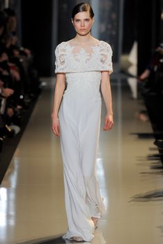 Elie Saab Spring 2013 Couture...BEAUTIFUL, I see pants. Get that designer look without the designer $$$, have it custom-made. Work with your seamstress to achieve this look.