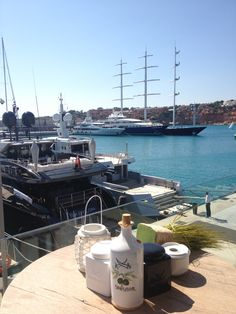 Views from the Sansibar Restaurant, in Port Adriano. #Mallorca