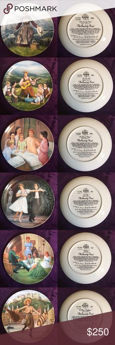 """Limited Edition The Sound of Music by T. Crnkovich Limited edition, 8 plate series exclusively for The Sound of Music painted by artist T. Crnkovich. Fired on fine china by Edwin M. Knowles, 1854, North America's Oldest Name In Fine China. Perfect condition, flawless paint and the plates are clear of chips!  """"The Sound of Music"""" 1986 """"Do-Re-Mi"""" 1986 """"My Favorite Things"""" 1986 """"Laendler"""" 1987 """"Edelweiss"""" 1987 """"I Have Confidence"""" 1987 """"Maria"""" 1987  """"Climb Ev'ry Mountain"""" 1987  """"The only…"""