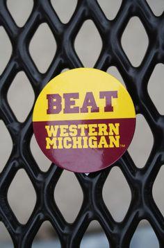 Beat Western Michigan Central Michigan University, Western Michigan, Beats, Westerns, Ireland, Chips, Fire, Button, Reading