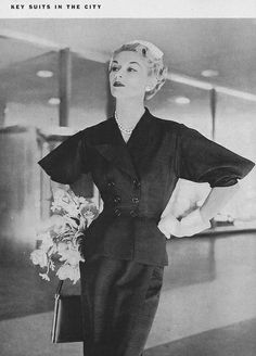 Lisa Fonssagrives-Penn.   Vogue, April 1952.