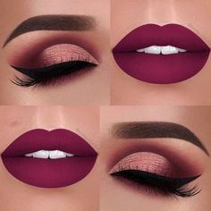 Prom Red Lipstick and Eye Make up Ideas Makeup Goals, Makeup Inspo, Makeup Inspiration, Makeup Tips, Hair Makeup, Makeup Ideas, Makeup Products, Makeup Trends, Makeup Hacks