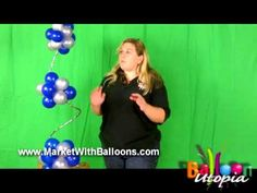▶ How To Make a Balloon Spiral Topiary Centerpiece- San Diego - YouTube