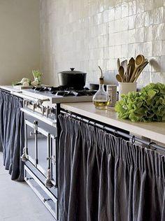 rideaux plan de travail cuisine