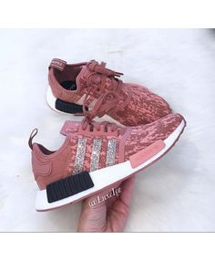 9ebca8116 Cheap Adidas NMD Runner Raw Pink Trainers With Swarovski Crystals Men s  Outfits