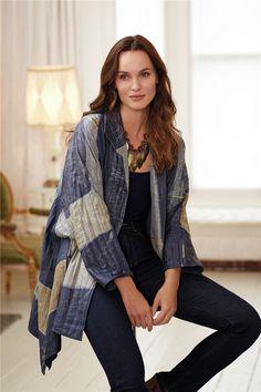 Silk Shibori qulted coat | Zhiboxs.com