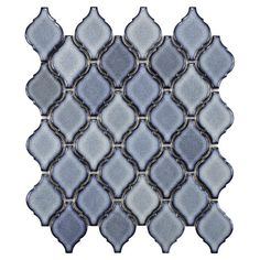 Create a chic backsplash or stylish accent wall with this glazed porcelain mosaic tile, the perfect finishing touch for your kitchen or master bath....