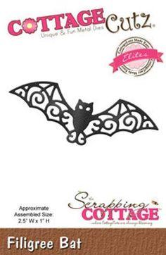 Cottage Cutz steel craft die Halloween Filigree Bat #CottageCutz