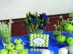 """Golf themed 75th birthday party """"Flag stick"""" dipped pretzel rods"""