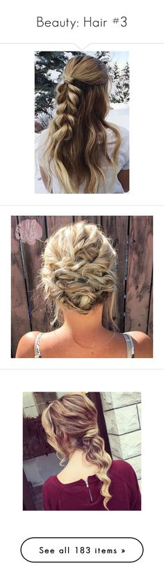 """""""Beauty: Hair #3"""" by nattiexo ❤ liked on Polyvore featuring beauty products, haircare, hair styling tools, hair, backgrounds, photos, pictures, elsa, hairstyles and cabelo"""