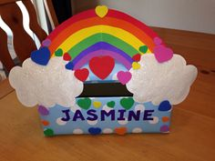 Fourth of July rainbow valentines boxes, cajas san valentin boxes, vale. Pokemon Valentines Box, Valentine Boxes For School, Puppy Valentines, Lego Valentines, Unicorn Valentine, Valentines For Kids, Valentine Day Crafts, Valentine Decorations, Diy Valentine's Box