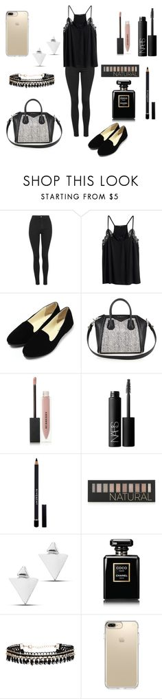 """Untitled #107"" by barbarapalvine22 ❤ liked on Polyvore featuring Topshop, H&M, Givenchy, Burberry, NARS Cosmetics, Forever 21, Chanel and Speck"