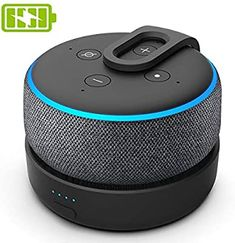GGMM D3 Base de Batterie Portable pour Enceinte Dot 3ème Génération et Autres Enceintes Smart Home, Noir (Dot Non Inclus): Amazon.fr: High-tech