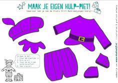 * Kleding bij pieten-spel! 5-6 Preschool Kindergarten, Work Inspiration, Color Themes, Paper Dolls, Crafts For Kids, Saints, Teaching, Winter, Essie