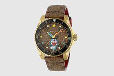 Girly Things, Girly Stuff, Fun Stuff, Gucci Watches For Men, Monogram Sweatshirt, Gucci Brand, Watch Companies, Doraemon, Red Stripes