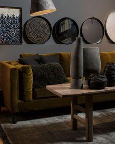 ATELIER RUE VERTE , le blog: Lyon / Maison Hand ouvre son restaurant / Rue Verte, Decoration, Showroom, Table, Ottoman, Lounge, Couch, Throw Pillows, Living Room