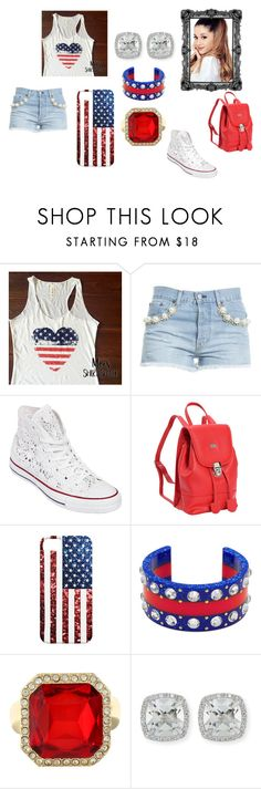 """ready for the foourth of july #independanceday"" by chaniyahrobertson70 on Polyvore featuring Forte Couture, Converse, Leatherbay, Gucci, Monet and Frederic Sage"