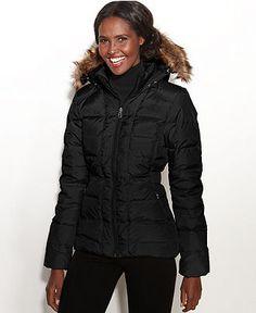 The North Face Coat, Gotham Hooded Faux-Fur-Trim Puffer - Coats - Women - Macy's