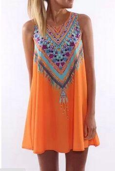 JOLIE:::Casual Boho Maxi Party Evening Mini Dress