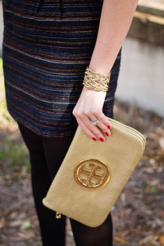Holiday outfit sparkle jcrew via With Style and a Little Grace