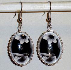 Ohrringe Katze Damen Ohrschmuck Modeschmuck Tiere & Insekten Glas handgefertigt