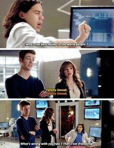 Betrayal by friends lol. Nothing is wrong with them cisco , felicity is the best