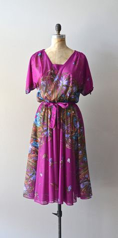 vintage 1970s dress / 70s floral dress / Secret by DearGolden, $58.00