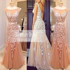 2016 Long Mermaid Evening Dresses New Arrival Sparkly Illusion Beading Applique Sexy Backless Long Prom Party Special Occasion Dress Z183 Online with $169.85/Piece on Rosemarybridaldress's Store | DHgate.com