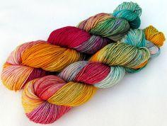 handgefärbte Sockenwolle  75  Wolle 25 Polyamid von Piratenwolle, €9.95