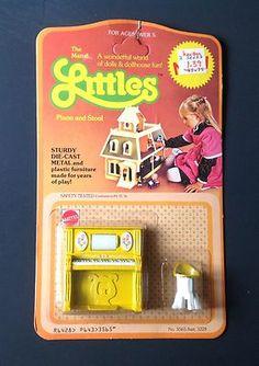Vintage 1980 Littles by Mattel Dollhouse Furniture Die Cast Sink Ice Box NOS