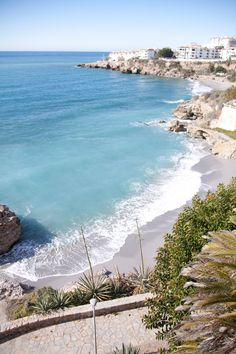 The beautiful waters of Nerja, Spain Holiday Places, Holiday Destinations, Places To Travel, Places To Visit, Andalusia Spain, Spain And Portugal, Spain Travel, Travel Guide, Travel Photography