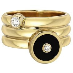 Retrouvaí Onyx Triple Coil Pinky Ring (2 372 740 LBP) ❤ liked on Polyvore featuring jewelry, rings, evil eye jewelry, hand crafted jewelry, evil eye ring, 14k ring and handcrafted jewelry
