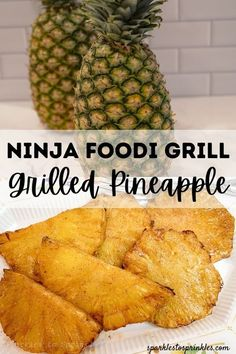 This Ninja Foodi Grill Grilled Pineapple recipe from Sparkles to Sprinkles is one of a kind! Combine pineapple, butter, sugar, and cinnamon to create one of the tastiest desserts that is also a perfect guilt-free treat you can easily enjoy every night! Grilled Pineapple Recipe, Pineapple Recipes, Great Recipes, Fall Recipes, Recipe Ideas, Summer Recipes, Fun Desserts, Delicious Desserts, Dessert Recipes