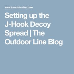 Setting up the J-Hook Decoy Spread | The Outdoor Line Blog
