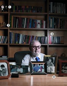 Jô Soares em seu escritório no Brooklin (Foto: Camila Fontana)