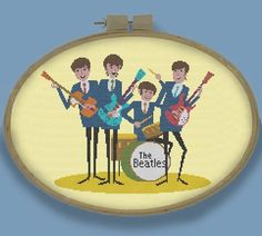 THE BEATLES Retro Modern Counted Cross Stitch by EccentricAvenue