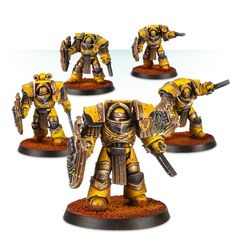 Imperial Fists Cataphractii Terminators with Storm Shields | Forge World Webstore