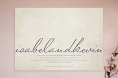 This would be a simple and classy way to design very inexpensive invitations. I dig it.