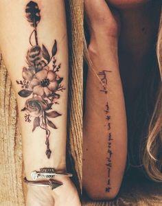 So beautiful arrow flowers tattoos