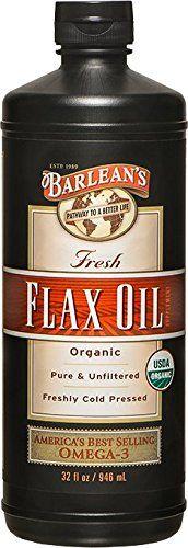 Barlean's Organic Oils Fresh Flax Oil, 32-Ounce Bottle Barlean's Organic Oils http://www.amazon.com/dp/B002VLZ83A/ref=cm_sw_r_pi_dp_8PWLwb1K1HAKH