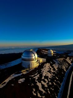 The highest mountain in Hawaii is Mauna Kea Observatories, Hilo, Hawaii.  This is the only place in Hawaii that gets snow.