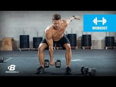 """The Best Two-Dumbbell Workout for MEN, """"Get Growth very fast with this full-body dumbbell routine."""" - YouTube"""