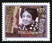 37 cents Ethel L. Payne U.S. Postage Stamp, issued on September 14, 2002.