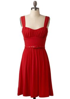 The Way You Look Tonight Dress. Styled here: http://katealamode.com/2012/01/15/football-gumbo-and-hurricanes-ftmfw/ #ModCloth BB Dakota #red