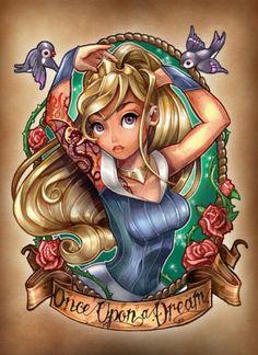 Cool disney tattoo art
