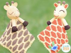NEW PATTERN - Rusty the Giraffe Security Blanket Lovey Crochet PDF Pattern with Instant Download (affiliate)