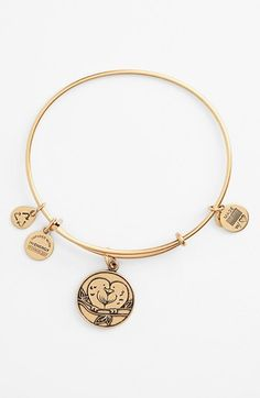 Alex and Ani 'Love Birds' Expandable Wire Bangle available at #Nordstrom
