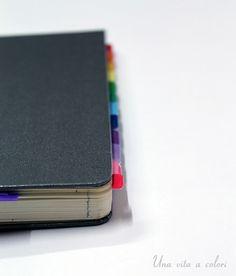 Segnapagina tabs stampabili gratis per Moleskine e Filofax. Ideali per decorare il divisorio della tua agenda.