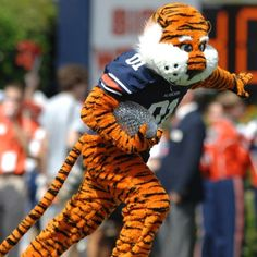 Aubie, Heisman Pose and National Championship Trophy...Pre Game, Utah State Game 3 September, 2011