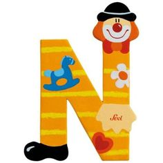 Trudi 81750 - Buchstabe Clown N - Spielzeugtester. Circus Theme, Circus Party, Yarn Covered Letters, John Crane, Clown Party, Send In The Clowns, Clowning Around, Carnival Birthday Parties, Letters And Numbers